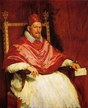 Handmade oil painting reproduction of Velazquez famous artist oil painting old master portrait painting Pope-Innocent-X(China)