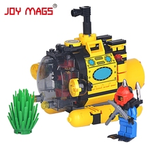 JOY MAGS 1213 Building Blocks Submarine Diver Underwater Adventures Compatible with All Brand Gift