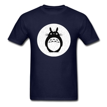 My Neighbor Totoro T Shirt Men's Summer 100% Cotton Graphic Tee Adult Latest Plus Size Top Printed Loose Guys Tee Shirts Totoro(China)