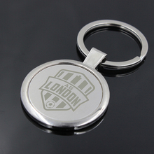 Custom Key Tag Keyring Personalized Keychain Promotional Key Ring Custom Logo Engraved Metal Keychains 100pcs Wholesale