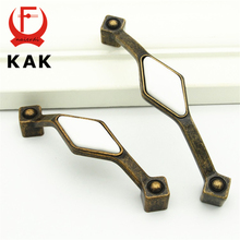 KAK Solid Brass Prismatic cabinet handles Zinc Alloy Fasion wardrobe handles pull drawer knobs Antique Diamond furniture handles(China)
