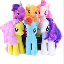 6pcs/set Twilight sparkle+Rainbow Dash horse unicorn Equestria Horse soft Plush toys ponies horse For Children Christmas Gift(China)
