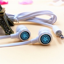 Anime Black Butler Contract Logo In-ear Earphone 3.5mm Stereo Earbud Microphone Phone Game Headset for Iphone Samsung Xiaomi MP3