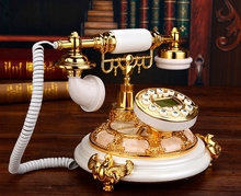 Antique fashion household old fashioned telephone nostalgic landline Hands-free/blue backlit version Caller ID(China)