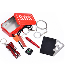 6 in 1 Camping multifunctional tool kit first-aid kit emergency supplies SOS outdoor survival survival equipment Best quality