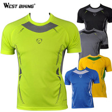 WEST BIKING Quality Hot Sale Men Bike Bicycle T Shirts Slim Fit Quick Dry T-shirts Male Running Cycling Short Sleeve Jerseys