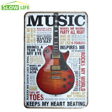 Music Saying Metal Tin Sign Pub Bar Wall Decor Tin Sign Vintage Home Decor Metal Plaque Cool Metal Plate Retro Metal Poster(China)