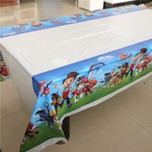 cartoon pawed patrolling birthday party supplies decorations disposable tablecloth/map for kids 1pcs 108*180cm(China)