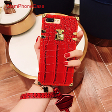 GlamPhoneCase Top Fashion Crocodile Pattern Fitted Case for iphone 7 7plus 6 6S 8 plus 6S+ Soft TPU Back Cover Phone Fundas(China)