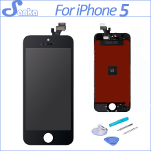 SANKA AAA for iPhone 5 LCD Touch Screen With Display Digitizer Ecran Assembly Replacement LCD Black Mobile Phone Parts(China)