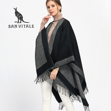 SAN VITALE Scarf Women Scarves for Women Top Quality Winter Neck Stoles Warm Designer Basic Fashion Plaid Shawls Echarpe Capes(China)