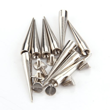 Useful 10pcs 7x40mm Gun Fashion Bullet Studs And Spikes For Clothe Punk Garment Rivets Cone Studs DIY Garment Rivets For Leather