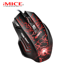 iMICE New Wired Mouse USB Optical Mouse 7 Button A7 3200DPI Computer Pc Mouse For Office Computers and Laptops(China)
