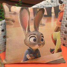 Manufacturers Supply  Latest Film Crazy Animal City Printing Short Soft Plush Throw Pillow Cushion For Kids Gift