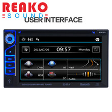 REAKOSOUND 12V 6.2 Inch LED 6201A Audio DVD SB / SD Bluetooth+ microphone 2-Din Car CD Player + Camera 170 Degrees Wide Angle