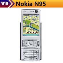N95 Original Unlocked Nokia N95 GPS WIFI 5MP 950mAh 3G Support Ruussian Keyboard Mobile Phone Free Shipping(China)