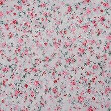 1 шт. 15050 см 100% хлопок ткань розовый с цветочным принтом для шитья лоскутное стежка, Тильда Ткань, ткани для кошельки PB076(China)