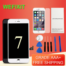 WEFIXIT 1pcs Display For iPhone 7 LCD Grade AAA++ LCD Digitizer Complete 3D Touch Screen with Assembly Replacement Free Shipping