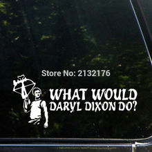 What Would Daryl Dixon Do? 7'' Die Cut Decal Bumper Sticker for Windows, Cars, Trucks, Laptops, Etc. White