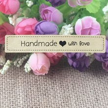Buy 100pcs handmade custom sticker label love personalized wedding/gift/clothing/chalkboard DIY Gift tags labels for $1.50 in AliExpress store