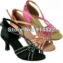 "In stock lady's ballroom/latin dance shoes, women dance shoes, 2.95"" or 2.5"" heel hight,1 pair mini order,free shiping(China)"
