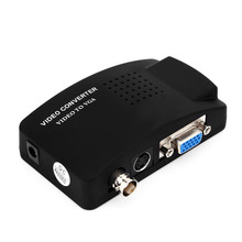 TV BNC Composite S-video VGA In to PC VGA LCD Out Converter Adapter Box Medical Video Converter