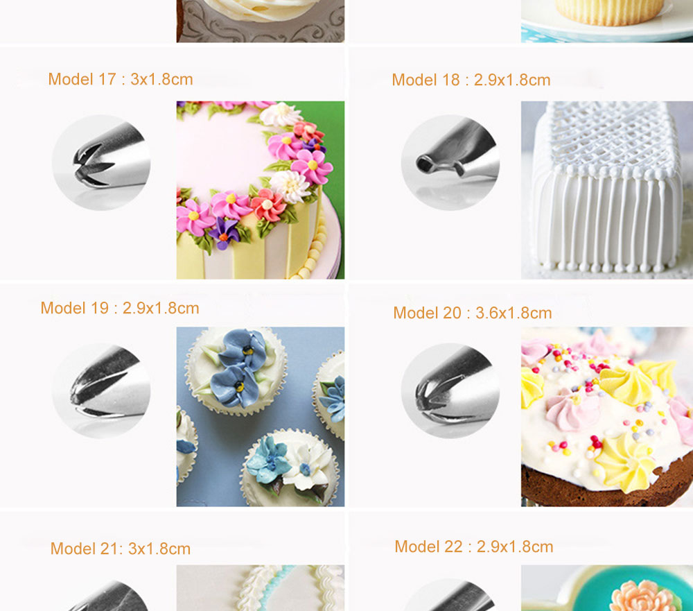 MAY FIFTEENTH Cake Decorating Tools 31pcs Pastry Bag Nozzles Piping Icing cream Piping Nozzle Pastry for Cake Cupcake Decoration (6)