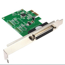 IEEE 1284 DB25 25 Pin Parallel Port PCI-E PCI Express Card Adapter for PC(China)