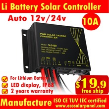 Lithium Battery 10A12V/24V LED solar charge controller,solar charge regulator, timer light control,IP68,MPPTSUN Brand