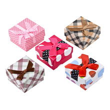 Paper Bowknot Jewelry Gift Box for Crystal for Earrings or Rings Radom Color M142