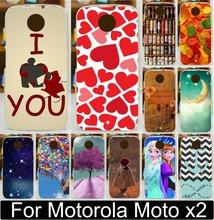 Painted Case For Motorola Moto X+1 X2 X 2 XT1095 XT1097 Print Love You Beer Moon Cute Littel Girl Balloon Phone Case Cover Shell