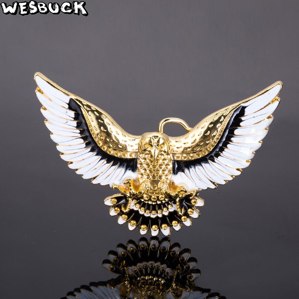 1 x mens ladies belt buckle metal jeans gold american eagle bird usa u.s gift