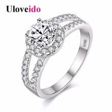 15% Off Rainbow Custume Jewelry Rings Silver Color Mystic Ring for Women Anillos Mujer Anel Feminino Marriage Jewellery J510(China)