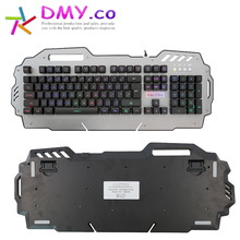 2017 cooling gaming keyboard High quality Anti-skid with stand design support led light waterproof keyboard can reduce fatigue