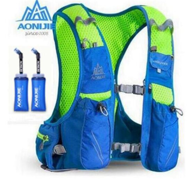 AONIJIE Men Women 10L Outdoor Bags Hiking Backpack Vest Marathon Running Cycling Backpack Optional Bottle Water Bag<br>
