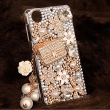 "New Luxury 3D Bling bling Rhinestone Clear hard PC Phone Cover Case for Lenovo K3 K30-T A6000 A6010 A6010 Plus 5.0"" Cases(China)"