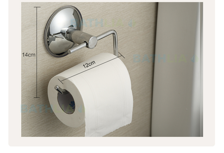 Stainless Steel Toilet paper Holder Heavy Duty  Suction Wall Mount Toilet Tissue Paper Holder Bathroom Paper Roll Holder