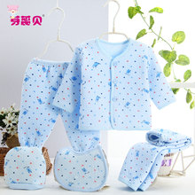 Newborn Baby Clothing 5pcs Sets Baby Clothing Set Three Warmth Cotton Designed Kits  Baby Boy Clothes for Winter Underwear 0-3M
