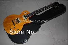 Free Shipping Wholesale Slash guitar Natural yellow burst SLASH signature  LP standard electric guitar with Hardcase