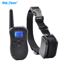 Petrainer 998DR-1BL Rechargeable And Waterproof 300M Remote Vibration Shock Electronic 100Level Dog Electric Collars(China)