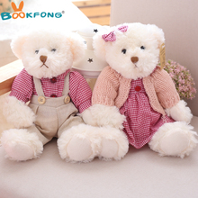 2PCS Valentine Teddy Bear Plush Toys Stuffed Couple Bears Children Girls Gifts Collection Toy Home Decor(China)