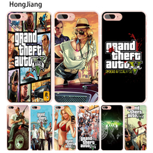 HongJiang rockstar gta 5 Grand Theft Auto cell phone Cover case for iphone 6 4 4s 5 5s SE 5c 6 6s 7 8 X plus(China)