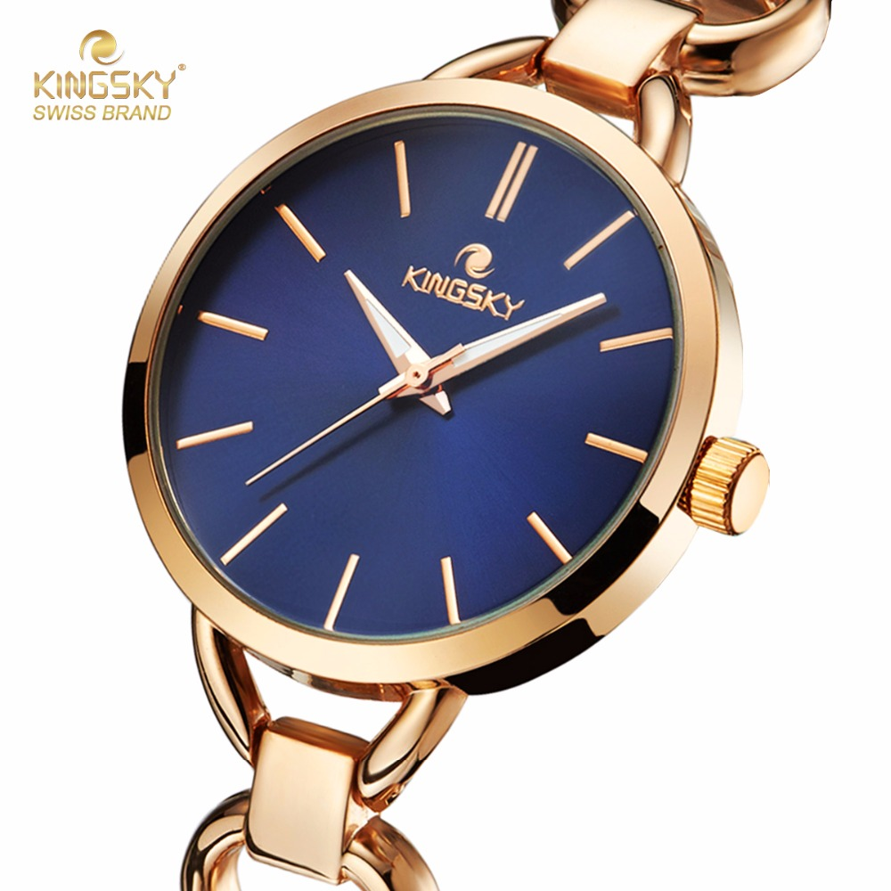 KINGSKY 2017 Summer Style Gold Watch Brand Watch Women Wristwatch Ladies Watch Clock Female Wristwatches Stainless Gold Watches<br><br>Aliexpress