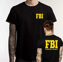 Fashion Federal Agent Bureau Of Investigation FBI T Shirt Men Government Agent Secret Service Police Funny Cotton O Neck TshirtS(China)