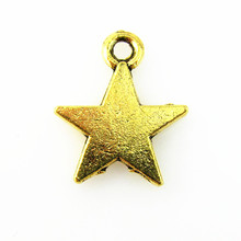 20pcs/lot Fashion Gold Star Charm Pendants Star Dangle Charms For Jewelry Making Pendant For Necklace