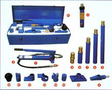 10T ram with stroke and 1-speed hydraulic hand pump, auto metal plate tool, split hydraulic jack,(China)
