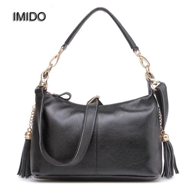 IMIDO Bags for Women 2018 Female Messenger Bag Genuine Leather Crossbody bags for Ladies Fashion Mum Shoulder Bag Yellow MG063<br>