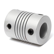 3D Printer 6x10mm Stepper Motor Jaw Shaft Coupler 6mm To 10mm Flexible Coupling Aluminum Alloy Router Connector OD 19x25mm
