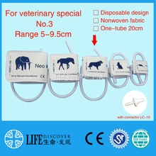 Disposable Non woven fabric NIBP Cuff with Single tube for Veterinary paitent monitor No.3 dogs with connector LC-10(China)