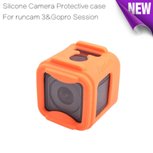 1pcs orange TPU Rubber Silicone camera Protective case to protect Runcam 3 camera &Gopro Session camera for FPV Racing Drone(China)